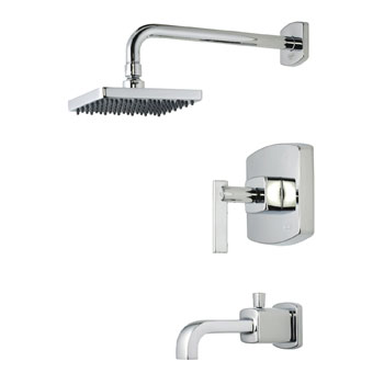 Belle Foret TS400CP Pressure Balance Tub and Shower Faucet - Chrome