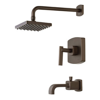 Belle Foret TS400ORB Pressure Balance Tub and Shower Faucet - Oil Rubbed Bronze