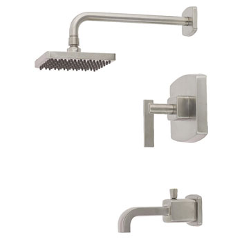 Belle Foret TS400SN Pressure Balance Tub and Shower Faucet - Satin Nickel