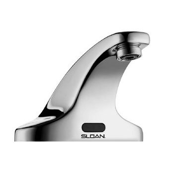 Sloan SF-2350 Sensor Activated Battery Powered Electronic Faucet - Chrome