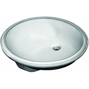 Sloan SS-3001 Standard Oval Undermount Lavatory Sink - White