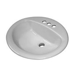 Sloan SS-3002 Standard Oval Drop-In Lavatory Sink - White