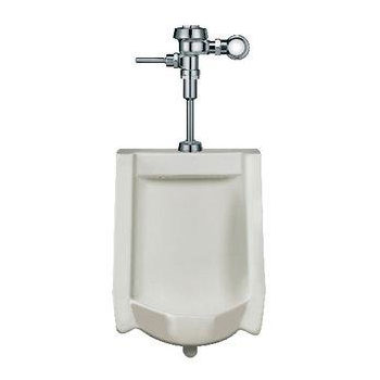 Sloan WEUS-1000.1001 High Efficiency Urinal Complete System with Exposed Manual Royal Urinal Flushometer Fixture - White
