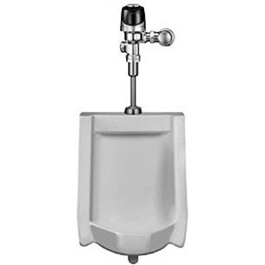 Sloan WEUS 1002.1401-0.25 OPTIMA Plus Systems with Battery Powered Sensor Activated HEU Flushometer and HEU Urinal - White