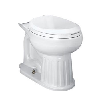 St. Thomas Creations 6119.218.01 Mayfair Two Piece Chair Height Round Front Toilet Bowl Only - White