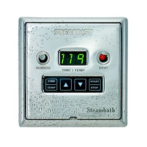 Steamist DSC-425BN Steambath Designer Control - Brushed Nickel (Pictured in Chrome)