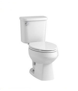 Sterling Plumbing 403081-0 Windham Two Piece 1.28 GPF Elongated Toilet with Pro Force Technology - White