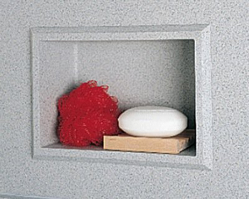 Swanstone AS-1075 Wall Panel Recessed Accessory Shelf - Bermuda Sand (Pictured in Tahiti Gray)