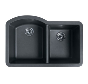 Swanstone QUDB-3322 Double Bowl Granite Undermount Sink 32