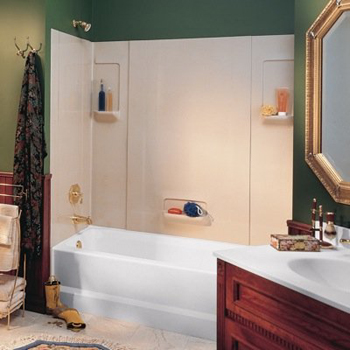 Swanstone TW-32 High-Gloss 5-Panel Tub Wall Kit - White (Pictured in Bone)