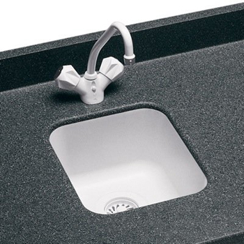 Swanstone US-1210 Entertainment / Bar Sink Undermount - Black Galaxy (Pictured in White)