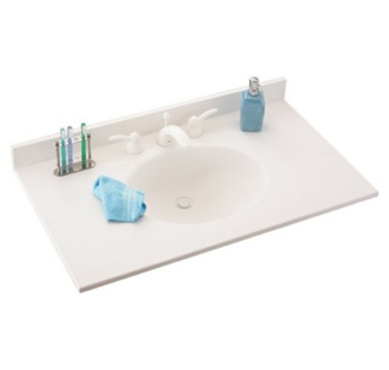 Swanstone Ellipse Vanity Tops White