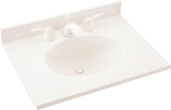 Swanstone VT1B2261.059 Ellipse Vanity Top - Tahiti Ivory (Pictured in White)