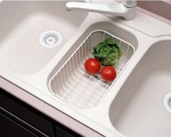 Swanstone WB 22 Small Kitchen Sink Wire Basket   White