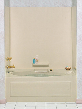 Swanstone WW-6000 High-Gloss Whirlpool Tub Wall Kit - Bone