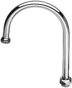 T&S Brass 135X Swivel Gooseneck Spout - Chrome
