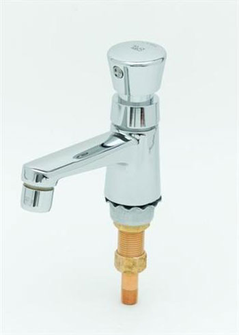 T&S Brass B-0712 Push-Button Metering Faucet - Chrome