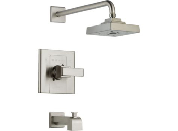 Delta T14486-SS Arzo Monitor Scald-Guard Single Handle Tub/Shower Trim - Brilliance Stainless