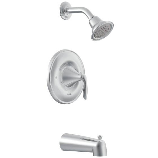 Moen T2133 Eva Posi-Temp Single Handle Tub/Shower Trim - Chrome