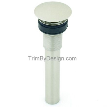 Trim-By-Design-TBD414 26BX-Round-Fix-Dome-Drain-Assembly-without-Overflow-Holes---Polished-Chrome