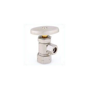 Trim By Design TBD503C.03 Angle Stop Valve - Polished Brass (Pictured in Brushed Nickel)