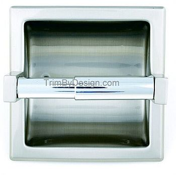 Trim By Design TBD805.07 Recessed Toilet Tissue Paper Holder - Brushed Bronze (Pictured in Chrome)