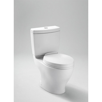Toto CST412MF-10 Aquia Two Piece Elongated Toilet with Dual Max Flush System - Cotton White