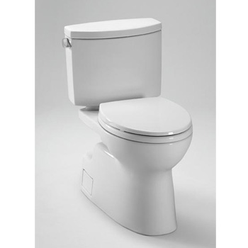TOTO CST474CEFG-01 Vespin II Two-Piece High-Efficiency Toilet with SanaGloss - Cotton White