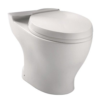 TOTO CT412F-01 Aquia Dual Flush Elongated Toilet Bowl - Cotton White