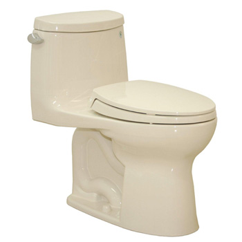 TOTO MS604114CEFRG-01 Ultramax II 1.28 GPF Toilet, Right Hand Trip Lever - Cotton White
