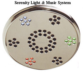 ThermaSol SLST-SN Serenity Light and Music System Traditional - Satin Nickel (Pictured in Polished Chrome)