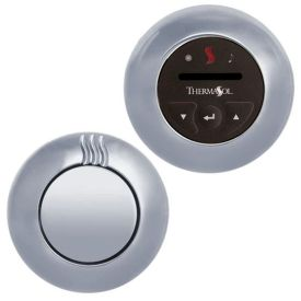 ThermaSol TPC-NTS-PB Temp-Touch Plus Contemporary Control Kit - Polished Brass (Pictured in Polished Chrome)
