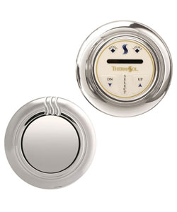 ThermaSol TPT-NTS-SB Temp-Touch Plus Traditional Control Kit - Satin Brass (Pictured in Polished Chrome)