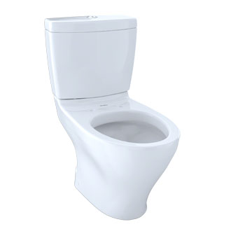 Toto CST416M#01 Aquia II Two-Piece Elongated Dual-Max, Dual Flush 1.6 and 0.9 GPF Skirted Toilet - Cotton White