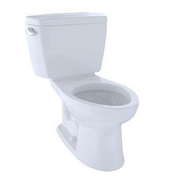 Toto CST744EL#01 Eco Drake Two-Piece Elongated 1.28 GPF ADA Compliant Toilet - Cotton White