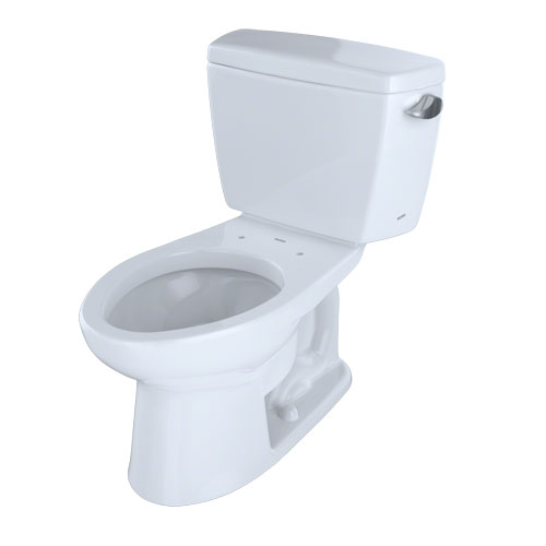 Toto CST744SLR#01 Drake Two-Piece Elongated 1.6 GPF ADA Compliant Toilet with Right-Hand Trip Lever - Cotton White