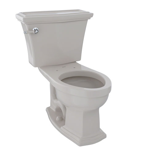 Toto CST784EF#12 Eco Clayton Two-Piece Elongated 1.28 GPF Universal Height Toilet - Sedona Beige