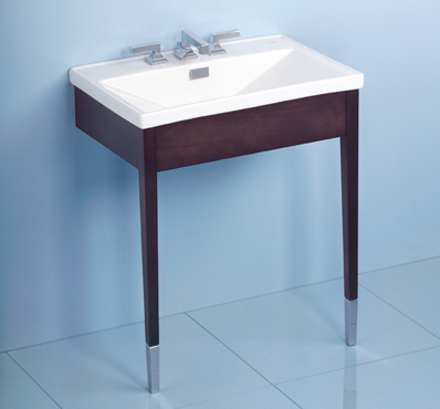 Toto LF930WCP-04 Lloyd Suite Wood Console Lavatory w/ Single-Hole Faucet Mount - Gray (Pictured in Cotton White)