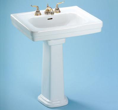 Toto LPT530.8N-01 Promenade Suite Pedestal Lavatory w/ Faucet Holes on 8