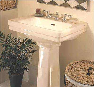 Toto LPT532N-03 Promenade Suite Pedestal Lavatory w/ Single-Hole Faucet Mount - Bone (Pictured in Cotton White)