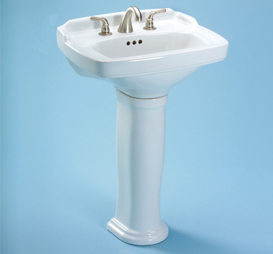Toto LPT770-01 Carrollton Suite Pedestal Lavatory w/ Single-Hole Faucet Mount - Cotton White