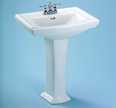 Toto LPT780-01 Clayton Suite Pedestal Lavatory w/ Single-Hole Faucet Mount - Cotton White