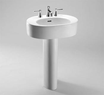 Genial Toto LPT790.8 01 Nexus Suite Pedestal Lavatory W/ Faucet Holes On 8