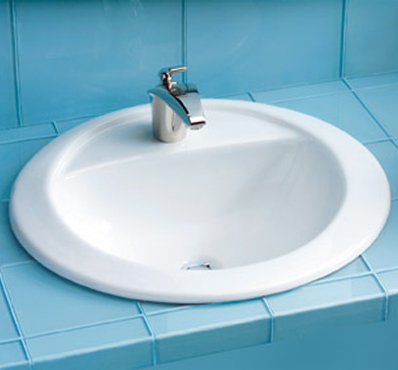 Toto LT521-51 Prominence Suite Self Rimming Lavatory Sink w/ Single-Hole Faucet Mount - Ebony (Pictured in Cotton White)