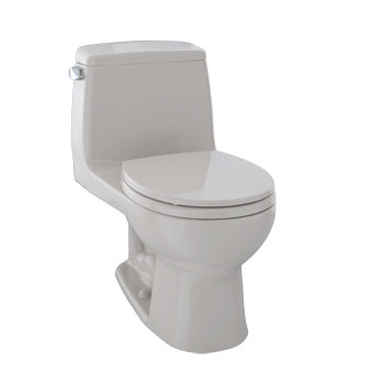 Toto MS853113S#12 Ultramax One Piece Round Front Toilet with Soft Close Seat - Sedona Beige