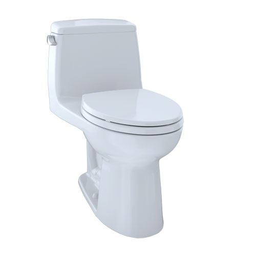 Toto MS854114EL-01 Eco UltraMax One-Piece Elongated 1.28 GPF ADA Compliant Toilet - Cotton White