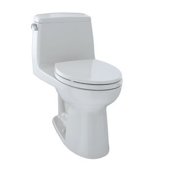 Toto MS854114SL#11 UltraMax One-Piece Elongated 1.6 GPF ADA Compliant Toilet - Colonial White