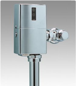 Toto TEU1GNC-12 Commercial EcoPower Urinal Flushometer Valve, 1.0 Gpf, Exposed - Nickel Chrome