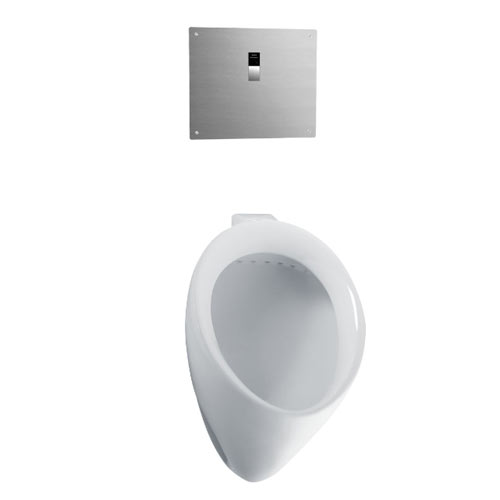 Toto UT104EV#01 Commercial Washout High Efficiency Urinal, 0.5 GPF - Cotton White