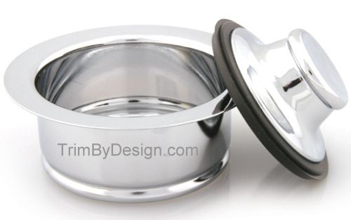 Trim By Design TBD142.26 Garbage Disposer Flange and Stopper Kit - Polished Chrome